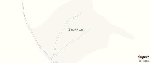 Полевая улица на карте хутора Зарницы с номерами домов