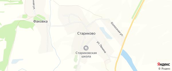 Карта села Стариково в Белгородской области с улицами и номерами домов