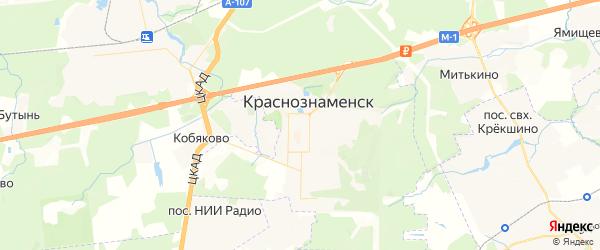 Карта Краснознаменска с районами, улицами и номерами домов: Краснознаменск на карте России