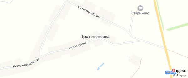 Октябрьская улица на карте села Протопоповки с номерами домов