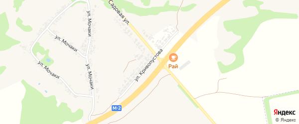 Улица Кривопустова на карте села Алексеевки с номерами домов