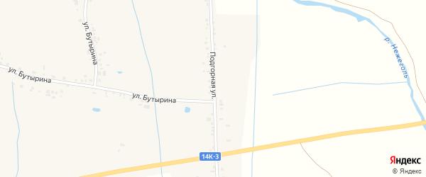 Подгорная улица на карте села Вознесеновки с номерами домов