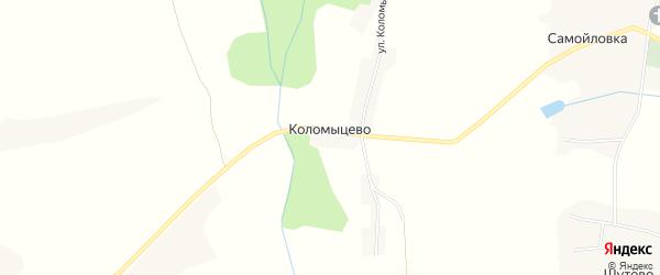 Карта хутора Коломыцево в Белгородской области с улицами и номерами домов