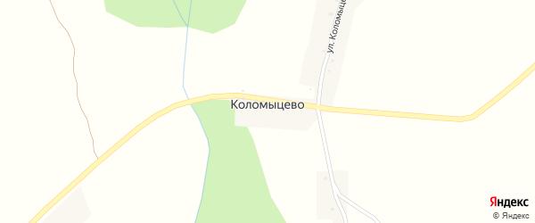 Улица Коломыцева на карте хутора Коломыцево с номерами домов