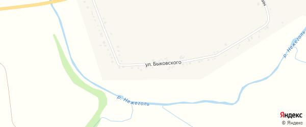 Улица Быковского на карте села Маломихайловки с номерами домов