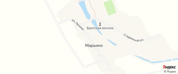 Улица Ленина на карте хутора Марьино с номерами домов