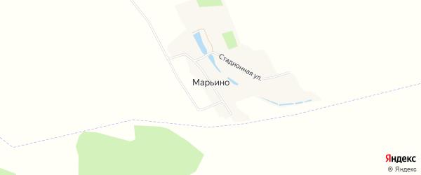 Карта хутора Марьино в Белгородской области с улицами и номерами домов