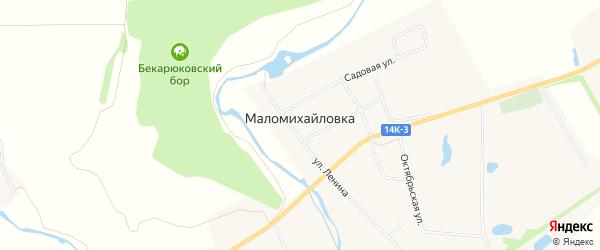 Карта села Маломихайловки в Белгородской области с улицами и номерами домов