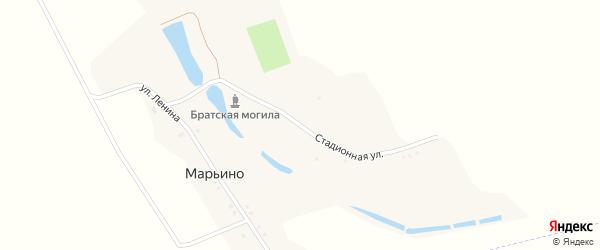 Стадионная улица на карте хутора Марьино с номерами домов