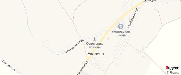 Центральная улица на карте села Уколово с номерами домов