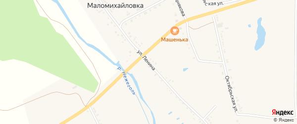 Улица Ленина на карте села Маломихайловки с номерами домов