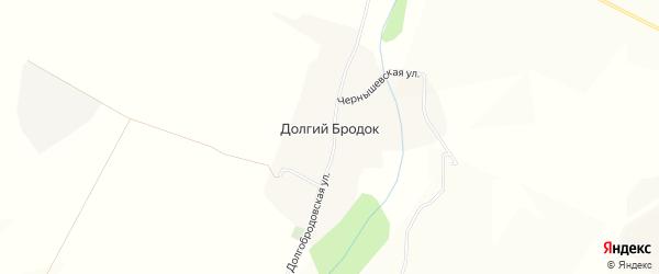 Карта хутора Долгого Бродка в Белгородской области с улицами и номерами домов