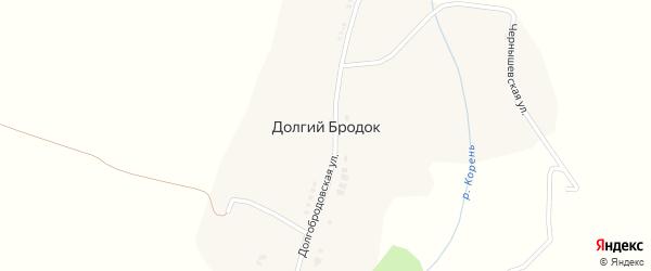 Долгобродовская улица на карте хутора Долгого Бродка с номерами домов