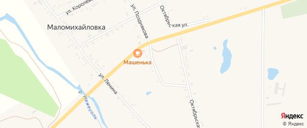 Улица Позднякова на карте села Маломихайловки с номерами домов