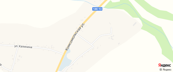 Зеленая улица на карте села Большого Городища с номерами домов