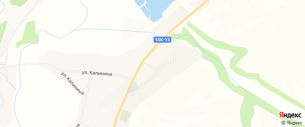 Карта села Большого Городища в Белгородской области с улицами и номерами домов