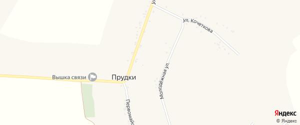 Улица Редина на карте села Прудки с номерами домов
