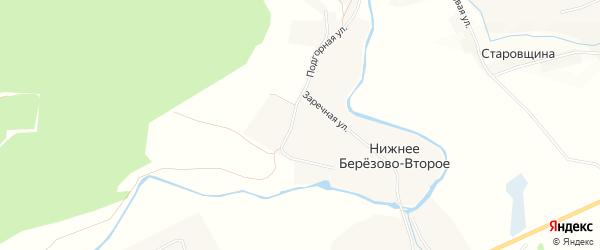 Карта Нижнее Березово-Второе села в Белгородской области с улицами и номерами домов