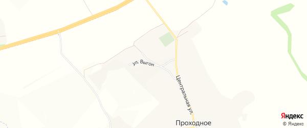 Карта Проходного села в Белгородской области с улицами и номерами домов