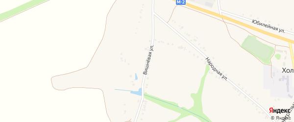 Вишневая улица на карте Холодного села с номерами домов