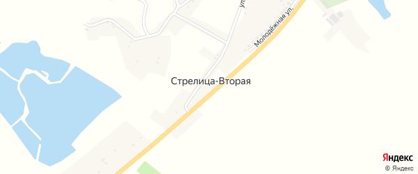 Пролетарская улица на карте села Стрелицы-Второй с номерами домов