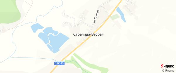 Карта села Стрелицы-Второй в Белгородской области с улицами и номерами домов
