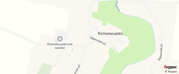 Центральная улица на карте села Коломыцево с номерами домов