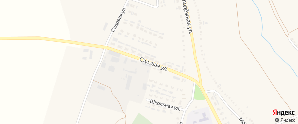 Садовая улица на карте села Чуево с номерами домов