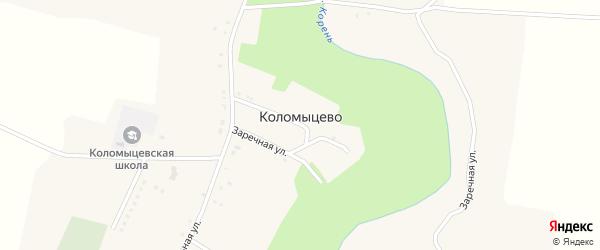 Центральный 1-й переулок на карте села Коломыцево с номерами домов