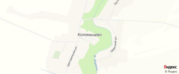 Карта села Коломыцево в Белгородской области с улицами и номерами домов