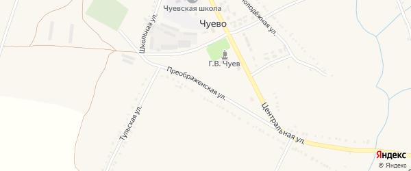 Преображенская улица на карте села Чуево с номерами домов