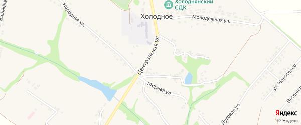 Заречная улица на карте Холодного села с номерами домов
