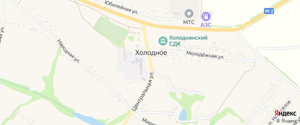 Центральная улица на карте Холодного села с номерами домов