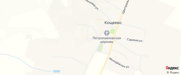 Карта села Кощеево в Белгородской области с улицами и номерами домов