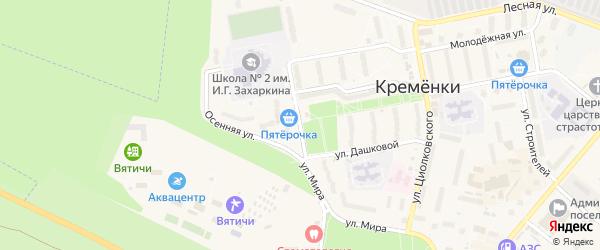 Школьная улица на карте Кременки с номерами домов
