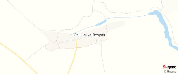 Карта села Ольшанки-Второй в Белгородской области с улицами и номерами домов