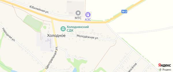 Молодежная улица на карте Холодного села с номерами домов
