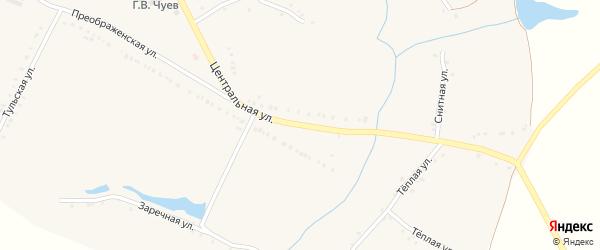 Центральная улица на карте села Чуево с номерами домов