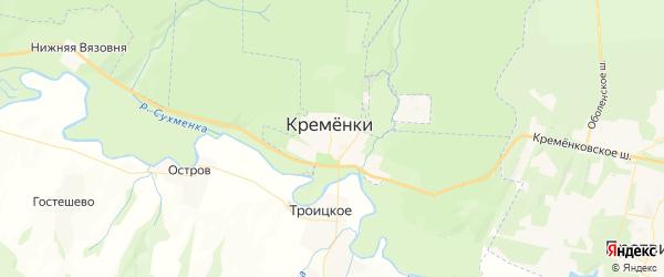 Карта Кременки с районами, улицами и номерами домов