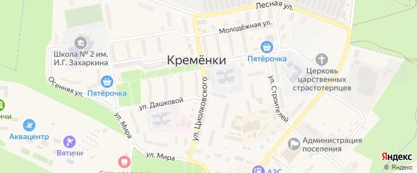 6-й Центральный проезд на карте Кременки с номерами домов