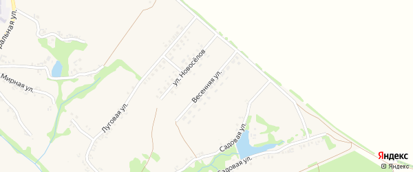 Весенняя улица на карте Холодного села с номерами домов