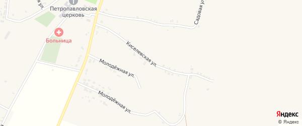 Киселевская улица на карте села Кощеево с номерами домов
