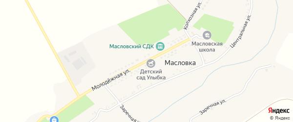 Молодежная улица на карте села Масловки с номерами домов