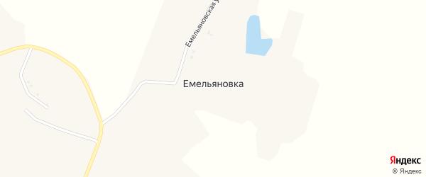 Емельяновская улица на карте хутора Емельяновки с номерами домов