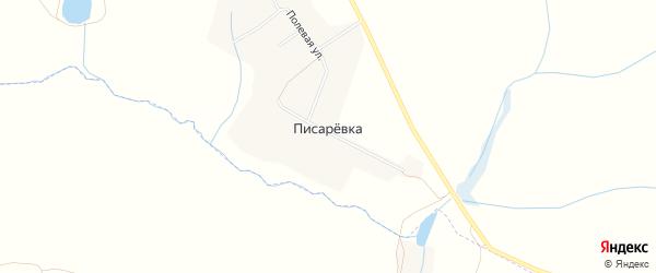 Карта хутора Писаревки в Белгородской области с улицами и номерами домов