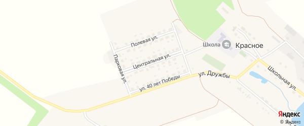 Центральная улица на карте поселка Красного с номерами домов
