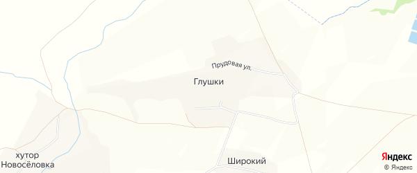 Карта хутора Глушки в Белгородской области с улицами и номерами домов