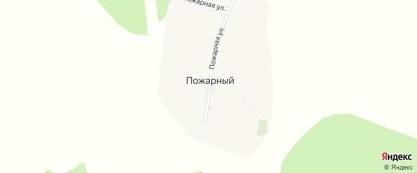 Пожарная улица на карте Пожарного хутора с номерами домов