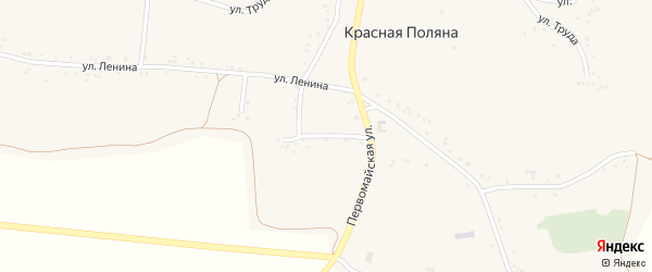 Первомайская улица на карте села Красной Поляны с номерами домов