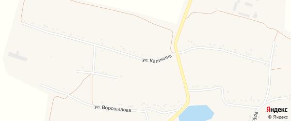 Улица Калинина на карте села Красной Поляны с номерами домов